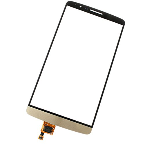 Topscreen2012(Tm) Touch Screen Digitizer Glass Lens For Lg G3 D850 D851 D855 Vs985 Ls990 Outer Touch Screen (No Lcd Screen Display)~ Replacement Repair Broken Demaged Faulty Parts (Gold)