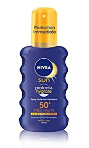 Nivea Sun Immediate Protection Mositurising Sun Spray, SPF 50+ - 200 ml