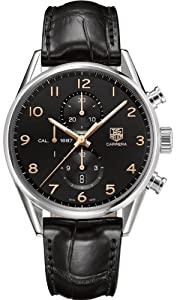 TAG Heuer Mens Carrera Calibre 1887 Leather Chronograph Watch