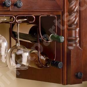 Double Wine Bottle Rack Oil Rubbed Bronze