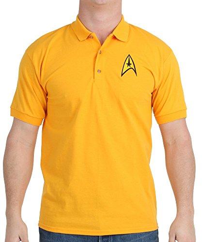 Star Trek Starfleet Uniform Adult Command Gold Polo Shirt (Adult XX-Large) (Star Trek Enterprise Uniform)