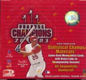 2003 Donruss Champions Baseball Cards Hobby Box