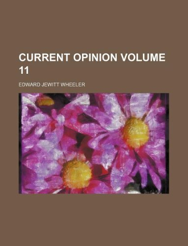 Current opinion Volume 11