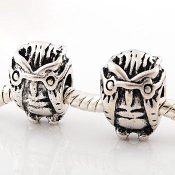 Andante-Stones 925 Silber Bead im Eule Design Element Kugel für European Beads + Organzasäckchen