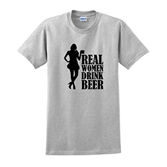 Real Women Drink Beer T-Shirt Small Ash