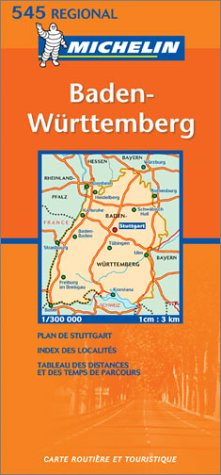 Michelin Germany Southwest - Baden-Wurttemberg Map No. 545
