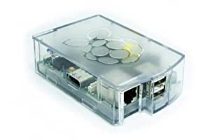 NEW! Raspberry PI clear case, mounted in 30 seconds, no screws, made in europe Transparent - claire