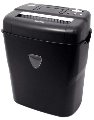 Aurora AS1018CD 10-Sheet Cross-Cut Paper/Credit Card/CD Shredder with Basket
