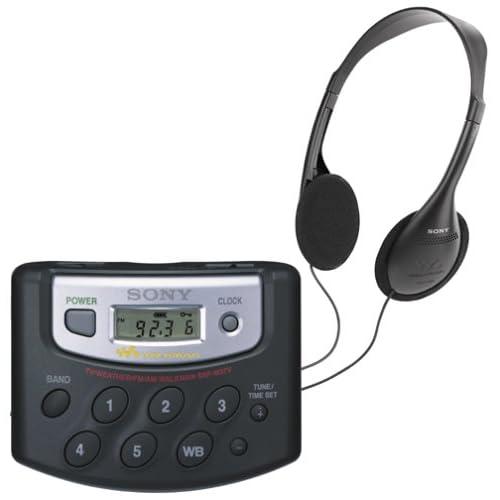 Sony SRF-M37V FM/AM/Weather/TV Radio Walkman with 25 Memory Presets
