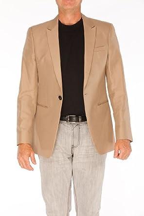 Emporio Armani Brown Cotton Jacket Coat, 52R, Brown