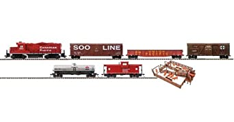 Trainline Big Sky Express Diesel Freight HO scale Train Set with Bachmann EZ Track Canadian Pacific