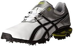 ASICS Men\'s GEL-Linksmaster Golf Shoe, White/Black/Lime, 8.5 M US