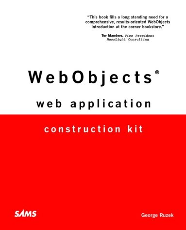 WebObjects Web Application Construction Kit by Ruzek, George