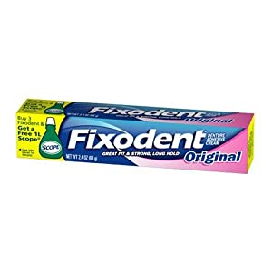 Fixodent Adhesive, 2.4-Ounce Tubes