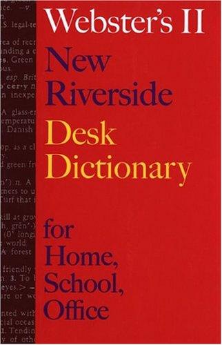 Image for Websters II New Riverside Desk Dictionary