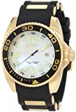 Invicta Men's 0996 Pro Diver White Mother-Of-Pearl Dial Black Polyurethane Watch