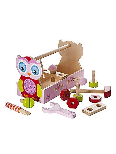 Holzspielzeug-Eulen-Werkzeugkasten-fr-Mdchen-von-Mousehouse-Geschenke