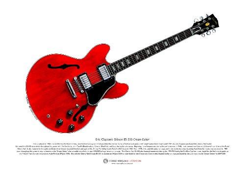 Gibson ES-335 Cream guitare de Eric Clapton ART POSTER taille A3