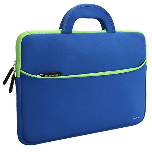 Evecase 13.3-14 Pollci Universale Neoprene Ultraportabile Sleeve Custodia per Dispositivi come MacBook Pro, Laptop, Ultrabook - Blu/Verde