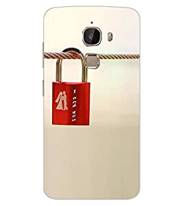ColourCraft Love Lock Design Back Case Cover for LeEco Le 2