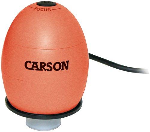 Carson Zorb Usb Digital Microscope With 35X Optical Zoom, Lava Orange