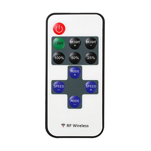 Le Mini Remote Controller For Single Color Led Strip Lights, Rf Dimmer For 12 V Dc Led Light Strips, 12A, Wireless Remote Control