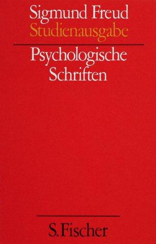 Psychologische Schriften (Studienausgabe) Bd.4 von 10 u. Erg.-Bd.