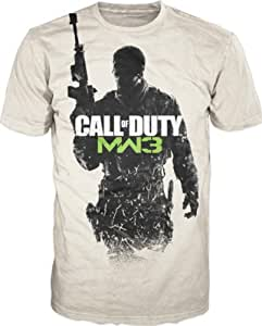 T-Shirt 'Call of Duty Modern Warfare 3' - Gunner logo - sable - Taille L