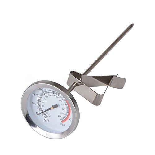 Cuisine Thermomètre alimentaire, en acier inoxydable lait Café Latte à faire mousser Thermomètre par leduole, thermomètre alimentaire pour liquide
