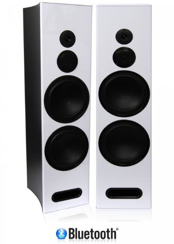 "Limitless Creations Radiant4 Dual 8"" 3-Way Bluetooth Floor-Standing Speakers W/Line-In, Mic-Inputs, & 3.5Mm Aux-In"