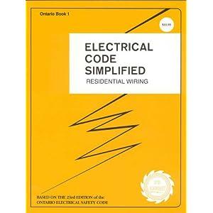 Ontario electrical code simplified residential wiring for Table 6 ontario electrical code