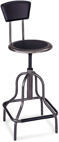Safco Products Diesel High Base Chair With Back, Pewter, 6664