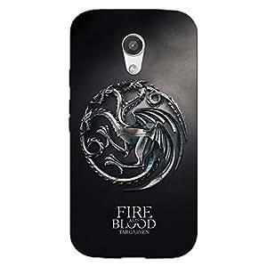 Jugaaduu Game Of Thrones GOT House Targaryen Back Cover Case For Moto G (2nd Gen)