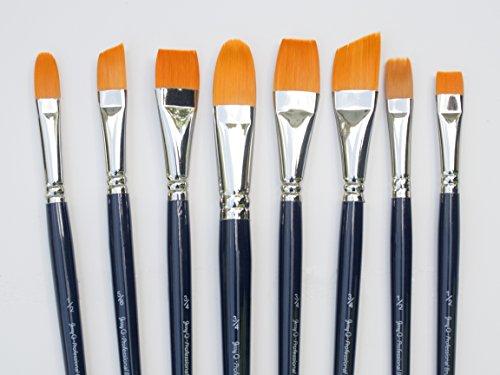 Golden Taklon Brushes For Acrylic Painting