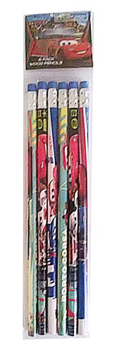 Disney Cars 6 Pack Wood Pencils