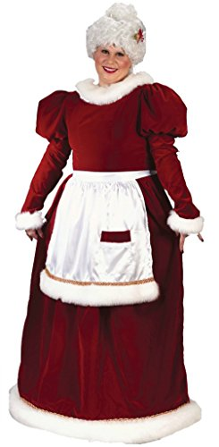Funworld Womens Christmas Holiday Mrs Santa Claus Lady Velvet Fancy Costume