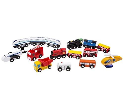 Wooden Train Car Set Compatible