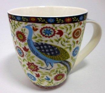 Floral Tudor Peacock China Mug (Gracie China Cake Stand compare prices)