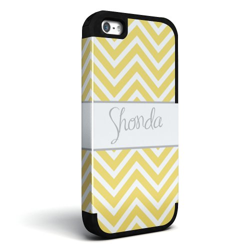 Chevron Personalized Iphone 4 / 4S, Iphone 5 / 5S, Galaxy S3, Galaxy S4 Bumper Case / Cover Custom Color And Text, Cute Fashion Designer Zig Zag Durable Heavy Protection Monogrammed