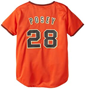 MLB Ladies San Francisco Giants Buster Posey Orange Baseball Jersey By Majestic by Majestic