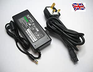 FOR SONY VAIO VGN-NR11M/S VGN-NR11S/S LAPTOP CHARGER AC ADAPTER 19.5V 4.7A 90W MAINS BATTERY POWER SUPPLY UNIT INCLUDES POWER CORD C5 CABLE MAINS CLOVER LEAF 3 PRONG UK PLUG LEAD