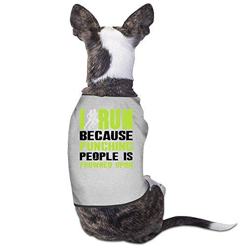 YRROWN I Run Because Punching People Is Frowned Upon Dog Shirt (Spirit Halloween Utah)