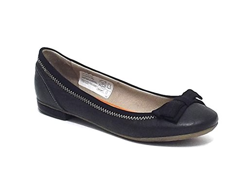 Manas Lea Foscati scarpa donna, ballerina in pelle e tessuto, colore nero