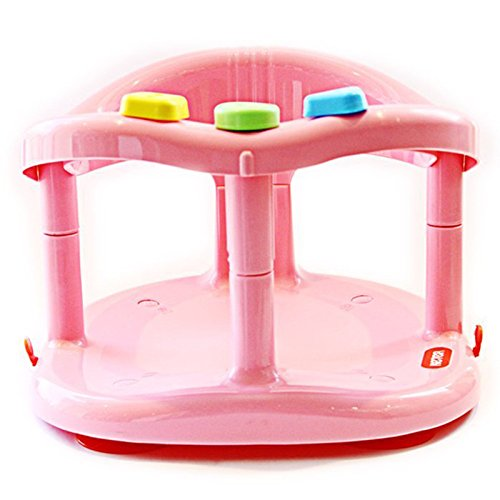 baby safe bath tub ring anti slip seat pink toddler bathing bathtubs seats. Black Bedroom Furniture Sets. Home Design Ideas