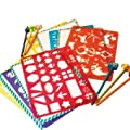 Meadow Kids Stencils and Pencils for Kids Green