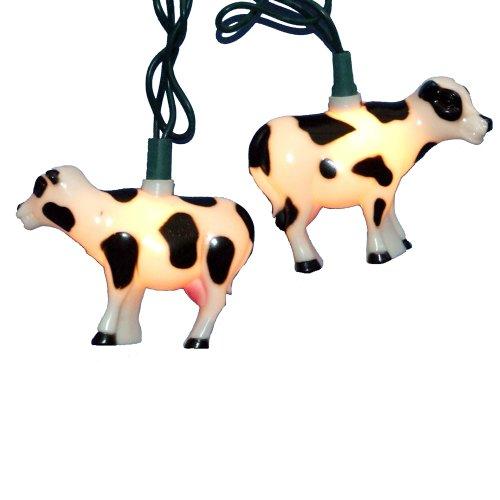 Best Kurt Adler 10-Light Cow Indoor/Outdoor Light Set