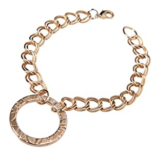Infinity Peace Bronze Link Bracelet