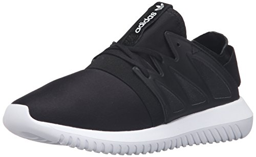 Adidas Originals Women's Tubular Viral W Fashion Sneaker, Black/Black/White, 8.5 M US
