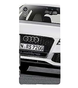 Luxury White Car 3D Hard Polycarbonate Designer Back Case Cover for Sony Xperia Z5 Premium (5.5 Inches) :: Sony Xperia Z5 Premium Dual