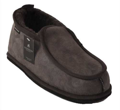 Shepherd Slippers Luxury Sheepskin Arne Style Slipper 100% Genuine Leather Sizes 7.5-11 UK (EU 41-46) # SH-475 Asphalt